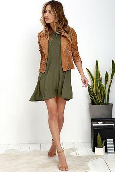 Tupelo Honey Olive Green Dress at Lulus.com!