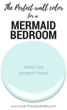 coastal bedrooms This is the perfect Mermaid Bedroom Paint color! It creates a relaxing coastal feel and provides a relaxing haven in any little girls room. Girls Room Paint, Bedroom Paint Colors, Paint Colors For Home, Bedroom Girls, Kids Bedroom Paint, Coastal Paint Colors, Girls Bedroom Colors, Playroom Paint Colors, Beach Paint Colors