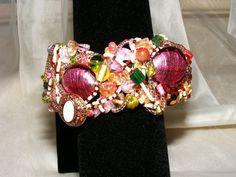 Marie Antoinette Bauble Cuff Bracelet by GoldiesNaturalGems, $40.00