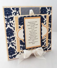 THE STAMPIN PALACE: Father's Day Keepsake using the New Xyron Creative...