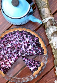 This melt-in-your-mouth Traditional Finnish Blueberry Pie is super easy to make. One slice is never enough!