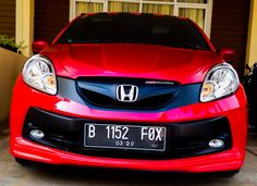 Honda Brio rally red-2