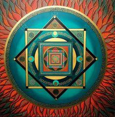 The Language of Dreams by Patricia Fitzgerald Arte Mandela, Sri Yantra, Mandala Art, Mandala Stencils, Sacred Geometry, Art Tutorials, Poppies, Meditation, Old Things