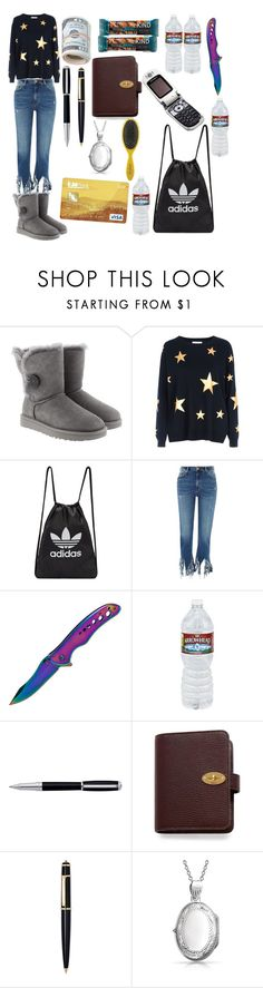 """""""Runaway Girl"""" by thesavannahd ❤ liked on Polyvore featuring UGG, Red Herring, adidas Originals, River Island, Whetstone Cutlery, S.T. Dupont, Mulberry, Cartier, Motorola and Bling Jewelry"""
