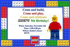 Lego-Themed Birthday Party