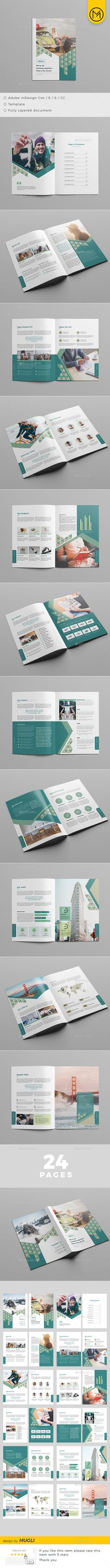 Brochure — InDesign INDD #template #marketing • Download ➝ https://graphicriver.net/item/brochure/19210751?ref=pxcr