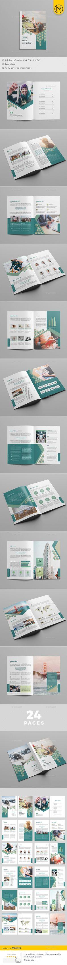Brochure — InDesign INDD #template #marketing • Download ➝ https://graphicriver.net/item/brochure/19210751?ref=pxcr