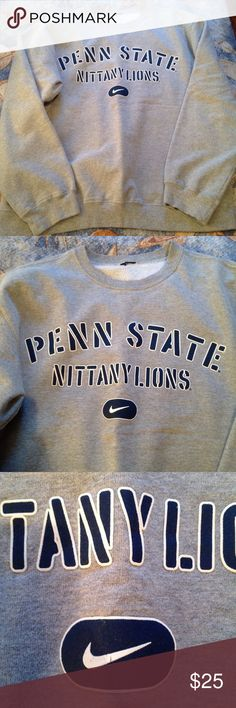 Nike Penn State Pullover Nike brand psu pullover. Gently worn but no flaws. Size tag has been cut out but it's an XL. Nike Sweaters Crew & Scoop Necks