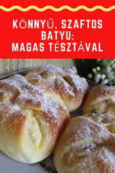 Hungarian Recipes, Food And Drink, Bread, Cookies, Dinner, Sweet, Hamburger, Bakken, Essen