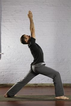 Top 10 Yoga Poses for Men by mensfitness: Warrior I. #Men #Yoga