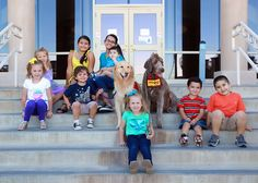 Chaves County District Courthouse Steps with Emma and Moose the CASA Dogs