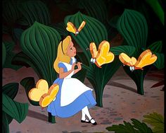 *ALICE IN WONDERLAND ~ Little bread and butterflies kiss the tulips...