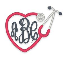 Heart Stethescope Monogram Frame Embroidery Design - Instant Download by boutiquefonts on Etsy https://www.etsy.com/listing/232842020/heart-stethescope-monogram-frame