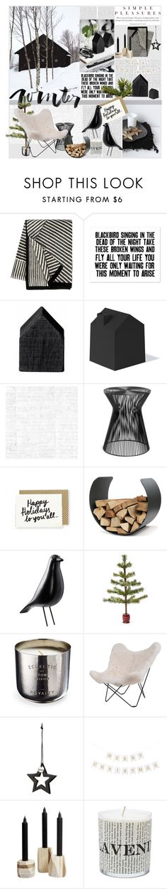 """""""Christmas at the Cabin"""" by shift ❤ liked on Polyvore featuring interior, interiors, interior design, home, home decor, interior decorating, Oris, Kelly Wearstler, Bloomingville and Umbra"""