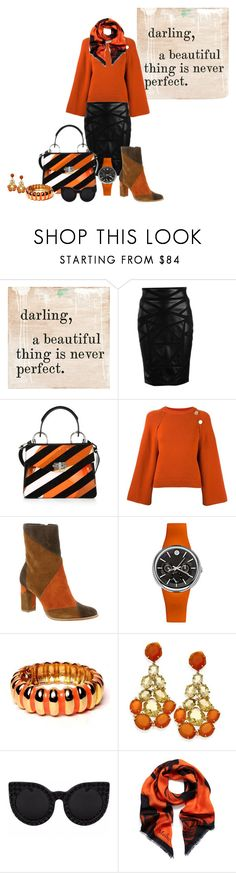 """""""Untitled #1200"""" by morticiame ❤ liked on Polyvore featuring Sugarboo Designs, Versace, Proenza Schouler, Vanessa Bruno, Matisse, Philip Stein, Kenneth Jay Lane and Mulberry"""
