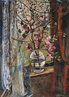 János Pirk - Flowers in Window