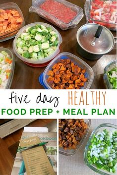 Meal Planning: Prepping 5 Healthy Dinners http://www.pbfingers.com/meal-planning-prepping-5-healthy-dinners/ Easy step-by-step instructions to follow to prep 5 healthy dinners