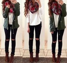 30 Decent Yet Chic Winter Outfits for Work AND School - Outfits - Cute Outfits Winter Outfits For School, Winter Outfits For Work, Cute Fall Outfits, Outfits For Teens, Casual Outfits, Black Jeans Outfit Winter, Winter Clothes, Night Outfits, Winter Scarf Outfit
