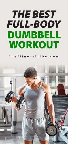 The Best Full-Body Dumbbell Workout & This list is a great way to get a full body workout at home, all you need is a& The post Dumbbell-Only Workouts: Exercises by Muscle Group appeared first on Vickers Fitness. Mens Full Body Workout, Full Body Workout Routine, Cardio Workout At Home, At Home Workouts, Workout Plans, Workout Tips, Gym Workouts, Full Body Workout No Equipment, Spartan Workout