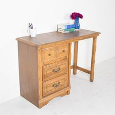 Winsome Oak Desk. Bring this lovely oak desk into your home office or writing nook as a chic personal study space and a vintage touch.