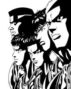 Shohoku by kgambas on DeviantArt Slam Dunk Manga, Kuroko, Basketball Art, Psycho 100, Mob Psycho, Comic Games, Anime Comics, Slammed, Tshirt Colors