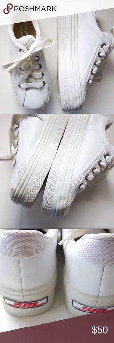 Steve Madden Heel Sneaker White