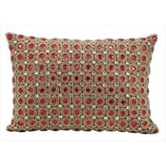 @Overstock - Nourison Kathy Ireland Ruby Beaded Throw Pillow - High-end fashion meets down-home comfort in this throw pillow from the Kathy Ireland collection. Perch this lovely ruby accent pillow on a chair or sofa for a great look and a touch of cozy.  http://www.overstock.com/Home-Garden/Nourison-Kathy-Ireland-Ruby-Beaded-Throw-Pillow/9320850/product.html?CID=214117 $39.99