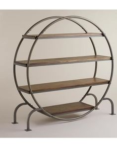 Round Bookcase - World Market from Cost Plus World Market. Saved to interior design. Metal Furniture, Home Office Furniture, Industrial Furniture, Living Room Furniture, Furniture Storage, Furniture Cleaning, Furniture Direct, Furniture Removal, Furniture Online
