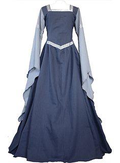 dornbluth.co.uk - medieval dresses - Hermia Indigo/Light Blue