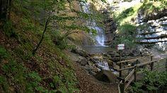 Cascata Hofentol, waterfall Magic Nature Folgaria, Trentino Italy