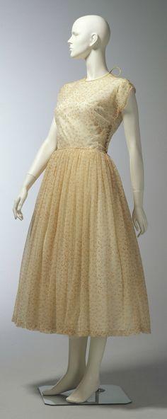 Dress, Claire McCardell (1905-1958): ca. 1945-1950, printed nylon.