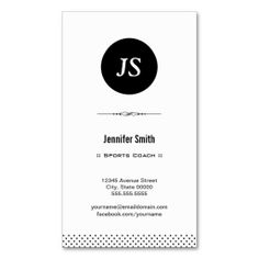 Sports Coach - Clean Black White Business Card. Make your own business card with this great design. All you need is to add your info to this template. Click the image to try it out!