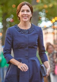 Crown Princess Mary attended the final performance of the Melbourne Symphony Orchestra's tour of Europe at the Tivoli Concert Hall, Copenhagen, Denmark, August 25, 2014