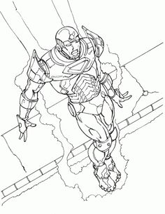 Iron Man Coloring pages for kids. Printable. Online Coloring. 23