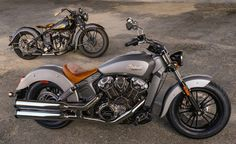 Indian Motorcycles launched their 2015 Scout at Sturgis Bike Rally, & is the 1st All-New Scout for over 70yrs. The V-Twin 1133cc weighs 253kg & provides 100bhp from the 60° liquid-cooled engine. (http://www.motorcyclenews.com/mcn/news/newsresults/new-bikes/2014/august/indian-launch-new-indian-scout/)