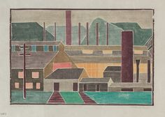 Mabel Hewit: Steel Mills #2 | Cleveland Museum of Art | White Line ...