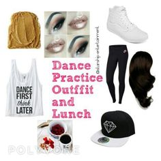 """""""Lunch after Practice"""" by pink-fire-official ❤ liked on Polyvore"""