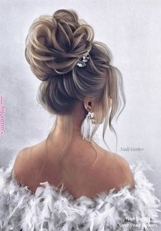 Nadi Gerber Long Wedding Hairstyles and Updo for Brides # Weddings # Hairstyles # W - Haare hochzeit - Easy Hairstyles For Medium Hair, Wedding Hairstyles For Long Hair, Bride Hairstyles, Long Hairstyles, Hairstyle Ideas, Stylish Hairstyles, Long Haircuts, Bridesmaid Side Hairstyles, Hair Ideas