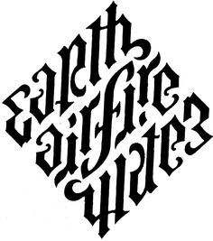 ambigrams of the four elements, Dan Brown, Angels and Demons