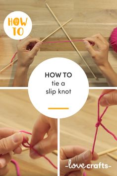 Learn how to tie a slip knot as the first step in starting a project with this easy to follow video | Learn to knit with LoveCrafts.com