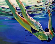 "Saatchi Online Artist: laura baker; Oil, 2008, Painting ""Swimmer #2"""