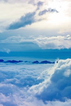 clouds and mountain peaks!