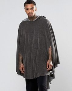 ASOS Loungewear Hooded Cape In Towelling Fabric
