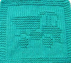 Knitting Cloth Pattern - DUMP TRUCK - 2 - PDF - Instant Download