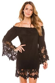 c0b898bbfe Muche et Muchette Womens Cottons Dress Swim Cover Up Black SM   You can  find out more details at the link of the image.