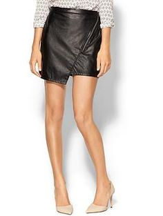 Black Sanctuary Blogger Vegan Leather Skirt   Piperlime $60
