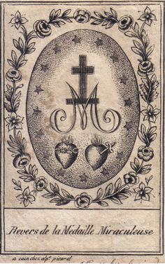 The reverse of the Miraculous Medal