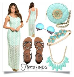 """""""Lace Maxi Dress with Fierce Finds"""" by milovanovic ❤ liked on Polyvore featuring Billabong, INC International Concepts, Anne Klein, Love Moschino and fiercefinds"""