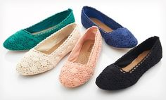 Groupon - $ 19.99 for Bucco Macy Crochet Flats ($ 45 List Price). Multiple Colors Available. Free Shipping and Returns. in Online Deal. Groupon deal price: $19.99