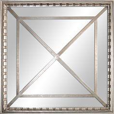 77178e5ea38d Amazon.com  Square Framed Wall Mirror 15.9